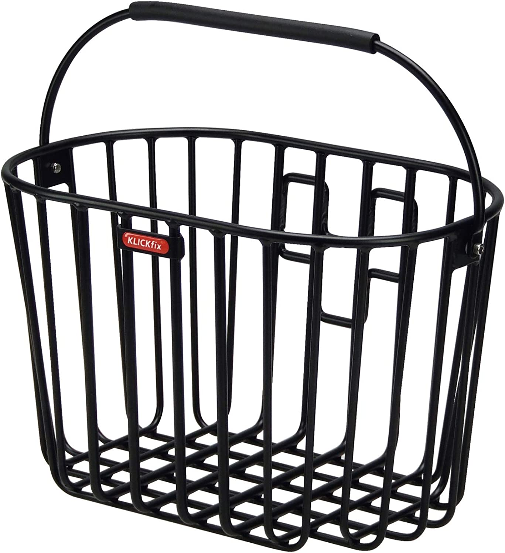 KlickFix Front Handlebar Basket Rixen & Kaul aluminium basket black