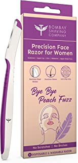 Bombay Shaving Company Face Razor For Women | For Easy & Safe Facial Hair Removal (Pack of 3)