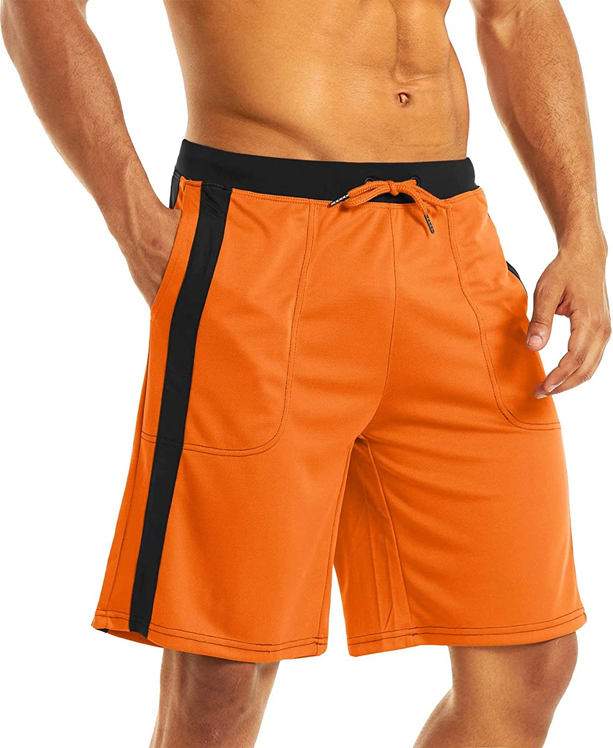 MAGCOMSEN specialty shop Men's Genuine Free Shipping Running Shorts Mesh with Athletic Linied