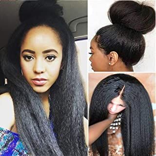 Glueless 13X4 Lace Frontal Wigs Straight Human Hair Wig with Baby Hair Pre Plucked Italian Yaki Lace Front Wigs For Women ...