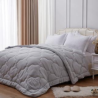 NexHome All-Season 100% Microfiber Down Alternative Comforter for Queen Size Bed Quilt Cozy Soft Summer Lightweight Comfor...