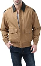 Landing Leathers Mens's Air Force A-2 Windbreaker Bomber Jacket with Leather Trim