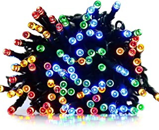 LED String Lights UL Plug-in 33 feet 100 LED Fairy Twinkle Light, 8 Flash Modes with Memory Function, Tail Plug for Connection, Waterproof Decorative Lights for Bedroom, Patio, Parties (Multi-colored)