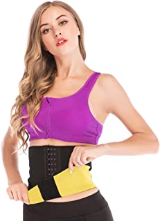 Hot Sweat Neoprene Sauna Shapers Slimming Belt Waist Cincher Girdle Weight Loss Women & Men 3 Hooks