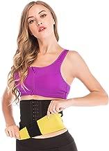 Hot Sweat Neoprene Sauna Shapers Slimming Belt Waist Cincher Girdle for Weight Loss Women & Men with 3 Hooks