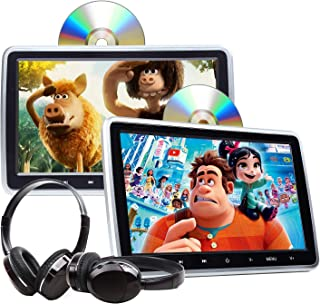 2020 Headrest DVD Player Car DVD Player 10.1'' Dual Car DVD Players with 2 Headphones Eonon C1100A for Kids Support Same/D...