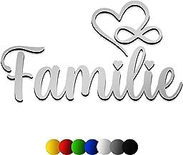 3D muursticker FAMILIE van hout met het lettertype | Faided | in 7 verschillende kleuren en 3 maten. Spreuken voor de keuk...