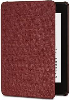 Funda Amazon de cuero para Kindle Paperwhite (10.ª generación - modelo de 2018) Burdeos