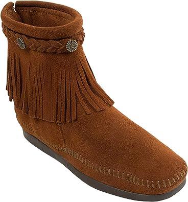 Minnetonka Hi Top Back Zip Boot, Stivali Donna