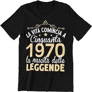 50 Anni Compleanno Donna Uomo Regalo Divertente Scherzo 1970 Maglietta