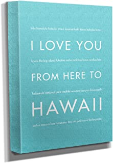 HopSkipJumpPaper Hawaii Gallery Wrapped Stretched Canvas Wall Art (8