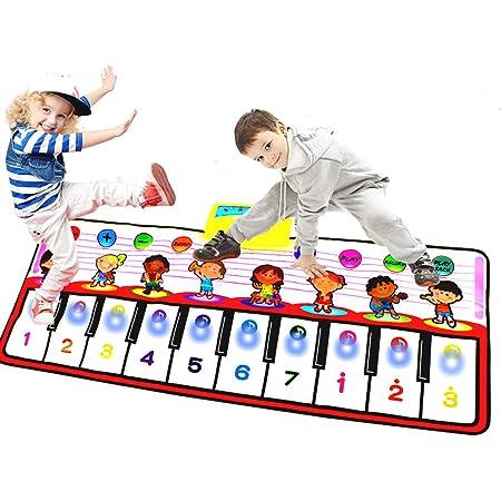 Tapete para Piano tamaño Grande (39 * 15,7 Pulgadas) Juguete para niños con Teclado y Teclado para Piano, Divertido tapete de Baile para bebés Niños ...