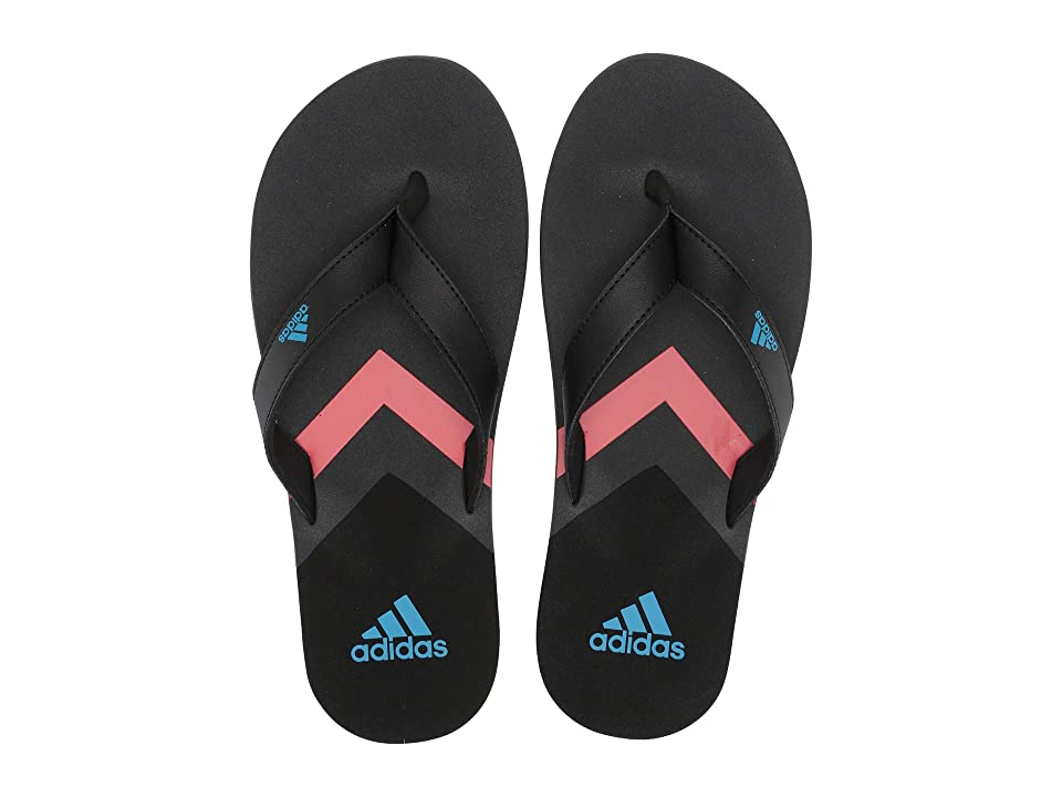adidas Eezay Flip-Flop (Core Black/Shock Cyan/Grey Six) Men