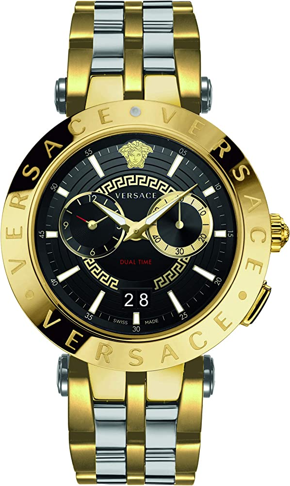 Versace v-race orologio uomo   in acciaio placcato di colore oro giallo VEBV00519
