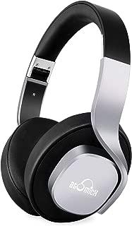 Bluetooth Headphones, iDeaUSA Wireless Headphones with Mic Over Ear Headphones 20 Hours Playback Passive Noise Cancelling Headphones for TV Smartphones PC Laptop - Black/Grey