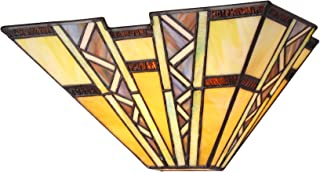 Chloe Lighting CH33226MI12-WS1 Tiffany-Style Mission 1 Light Wall Sconce 12-Inch Wide, Multi-Colored