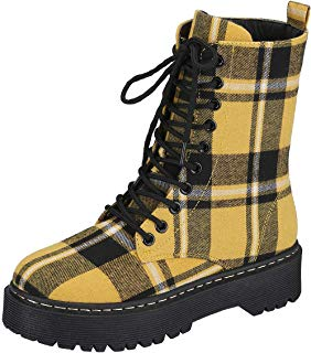 Harper Shoes Womens Combat Boots Lace Up