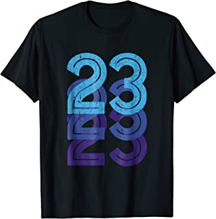 23 Shirt Lucky Number 23rd Year Birthday Age Sports Team
