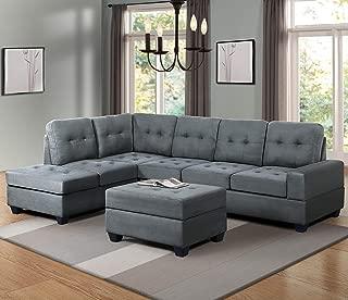 abbyson living regina sectional sofa