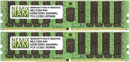 128GB (2x64GB) DDR4-2666MHz PC4-21300 ECC LRDIMM 4Rx4 1.2V Load Reduced Memory for Server/Workstation