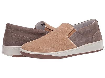 eleventy Suede Slip-On Sneaker (Taupe/Tan) Men