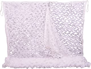 NINAT Camo Netting White Camouflage Net for Camping Military Hunting Shooting Sunscreen Nets 6.5x10ft,5x13ft,10x10ft,6.5x16.4ft,6.5x20ft,13x16.5ft,20x20ft