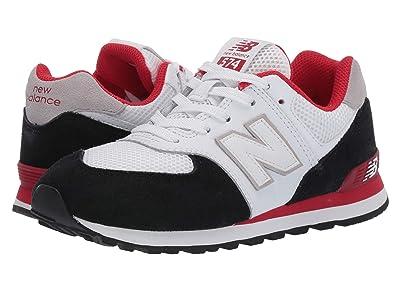 New Balance Kids 574 Summer Sport (Big Kid) (Black/Team Red) Boys Shoes