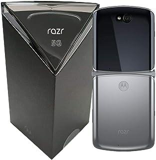 هاتف Motorola Razr 5G (2020) ثنائي شريحة الاتصال XT2071-4 سعة 256GB ROM + 8GB RAM Factory Unlocked Flip Android الذكي (Liq...