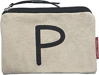 Hello-Bags - Monedero de Algodón con Cremallera, 14 cm, Blanco