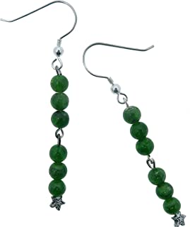 SatinCrystals Diopside Earrings 2.5