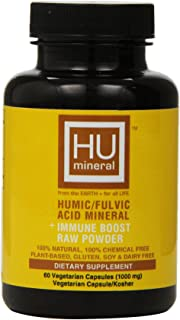 Humineral Humic and Fulvic Mineral Immune Boost Raw Powder Mineral Supplement, 60 Count