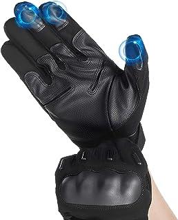 Audew Rękawiczki do wspinaczki, ekran dotykowy, do jazdy na motocyklu, rowerze, na rzep, rękawiczki motocyklowe, rękawiczk...