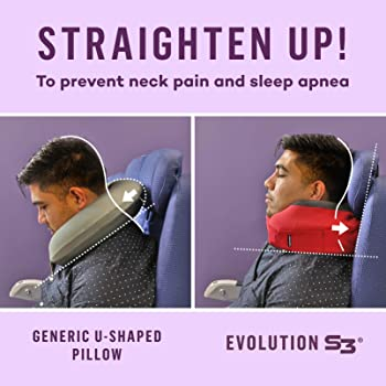 Cabeau Evolution S3 Travel Pillow, Memory Foam Airplane Neck Pillow for Travel, Breathable & Machine Washable Soft Co...