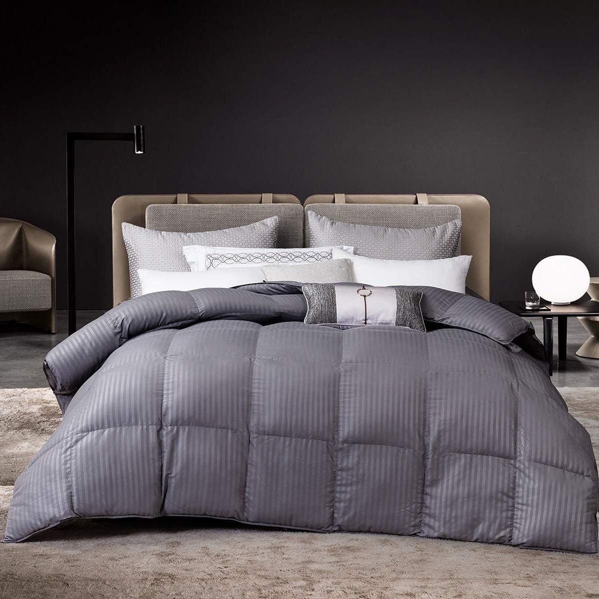 人気商品 Goose Down お歳暮 Alternative Comforter All Insert Season Grey St Duvet