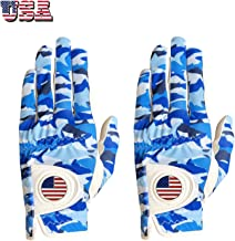 FINGER TEN Golf Gloves Men Left Hand Right with Ball Marker USA Flag Value 2 Pack, Breathable Comfortable Weathersof Grip Size Small Medium ML Large XL