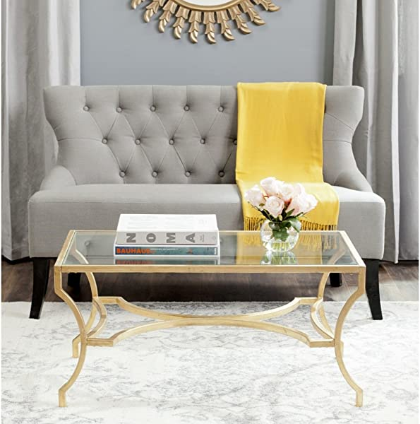 Safavieh Home Collection Alphonse Gold Coffee Table