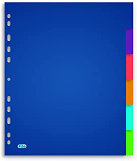 ELBA Intercalaires Neutres A4 6 Positions Polypro Translucide Epaisseur 30/100ème Coloris Assortis