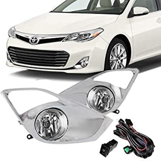 RP Remarkable Power, Fit For 2013 2014 2015 Avalon Front Pair Fog Lights Bumper Lamps w/Switch Wiring FL7026