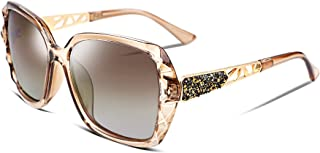 Classic Polarized Women Sunglasses Sparkling Composite Frame B2289