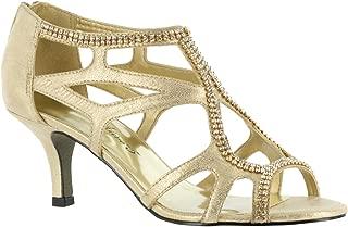Womens Flattery Dress Heels & Pumps Shoes, Gold, 9.5