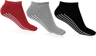 Multipack of Quality Non Skid Yoga Socks with Grips for Women and Girls: Great for Yoga Barre Pure Barre, Pilates, Hospita...
