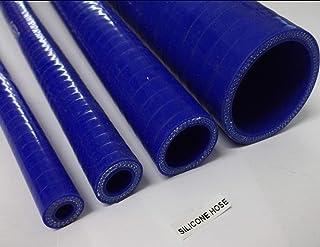 Tubo de silicona semirrígido de 3 capas reforzadas para radiador, 25 mm x 1 m, color azul