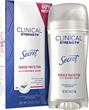 Secret Antiperspirant and Deodorant for Women, Clinical Strength Invisible Solid, Powder Protection, 2.6 Oz
