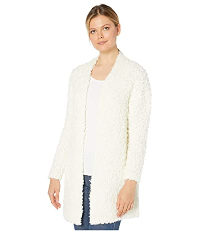 Vince Camuto Long Sleeve Poodle Yarn Open Front Cardigan (Antique White) Women