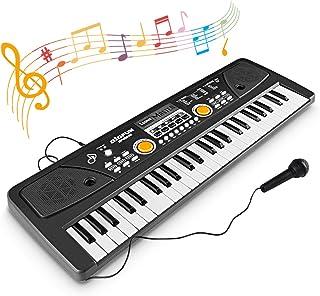 WOSTOO Barn piano tangentbord, 49 tangenter multifunktion elektroniskt barn piano tangentbord pedagogisk leksak, laddnings...