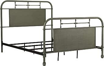 Liberty Furniture Vintage Series Queen Metal Bed, Green