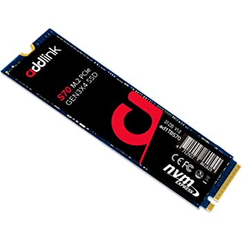 addlink 1TB SSD NVMe PCIe 3x4 M.2 2280 Internal Solid State Drive S70 Read 3,400MB/s/Write 3,000MB/s