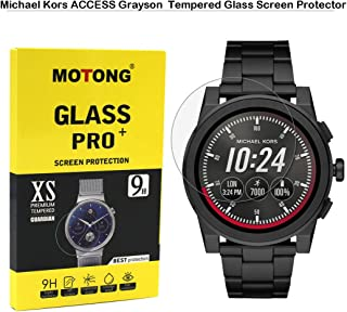 MOTONG Tempered Glass Screen Protectors for Michael Kors Access Men's 'Grayson Watch,9 H Hardness,0.3mm Thickness,Made from Real Glass