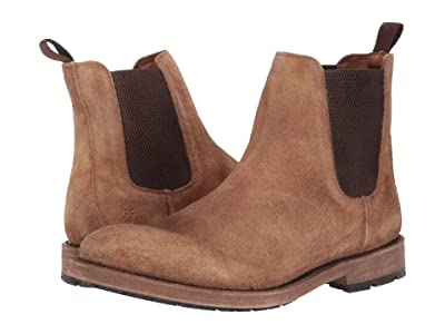 Frye Bowery Chelsea (Faded Brown Distressed Suede) Men