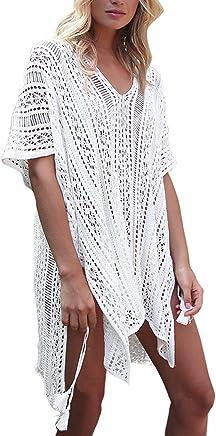 052167a4ed270 HARHAY Womens Oversize Beach Bikini Swimsuit Cover up Swimwear Crochet Dress